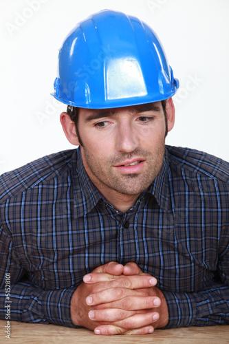 Pensive foreman