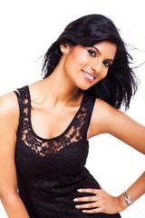 attractive latin american woman posing