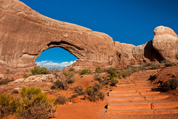 Window Arch in Arches National Park, Utah