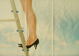 legs on ladder paper