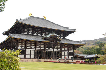 Main Hall of Todaiji Temple in Nara, Japan.