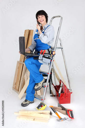 Equipped professional woman
