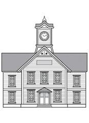 札幌時計台(白黒)