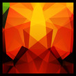 Colorful yellow and black abstract geometric polygon background