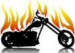 Chopper in fire