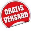 Sticker rot rund cu GRATIS VERSAND