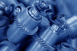 Mechanical equipment gear in a factory, closeup of pictures
