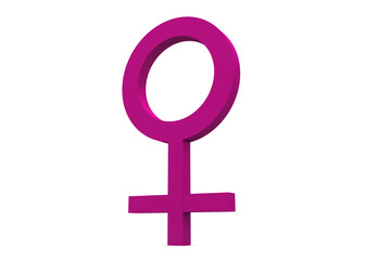3d female symbol