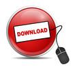Icon rund Download Cursor
