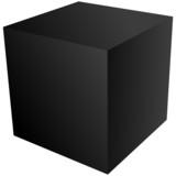 Fototapety Schwarzer, dreidimensionaler Quader, Aufsicht – Vektor