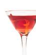 Manhattan Cocktail extreme close up