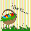 Easter background with basket sticker