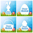 Easter card set with different silhouette text box