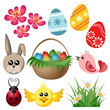 Easter symbol set