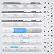 Set of web design elements - navigations menu bars
