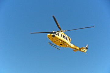 Helicopter rescue, Campo Imperatore, Gran Sasso, Italy