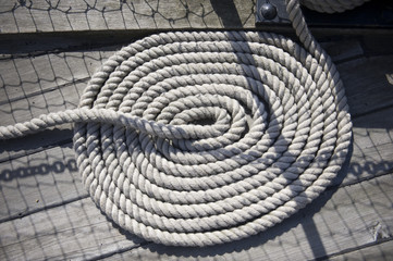 Twisted ships rope