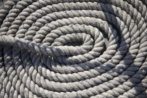 White rope on ship