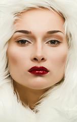 glamor portrait of a beautiful girl