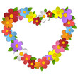 Flower Heart Bouquet Spring Background