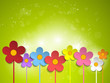 Beautiful Spring Green Flowers Background