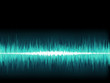 Blue sound wave on white background.   EPS8