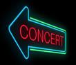 Concert sign.