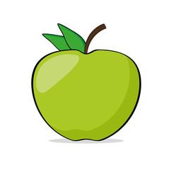 Apfel grün vektor