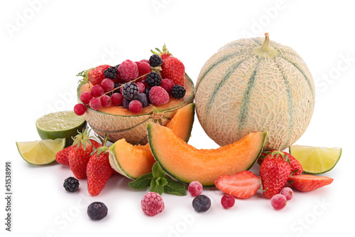 composition of summer fruits
