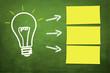 Lampe / Idee mit 3 Zettel