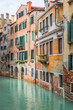 A vivid colorful Canal of Venice