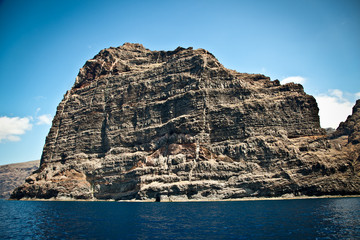 View of Los Gigantes cliffs. Tenerife,  Spain