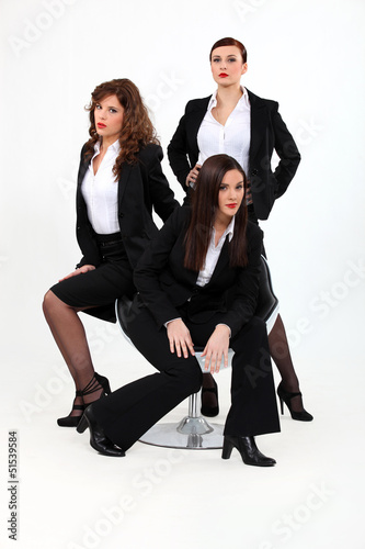 Trio of dynamic businesswomen