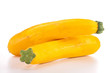 isolated raw yellow zucchini