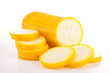 isolated raw yellow zucchini