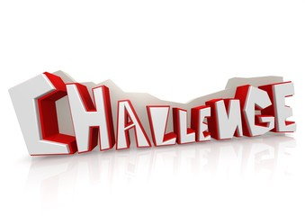 Challenge word with reflection ground