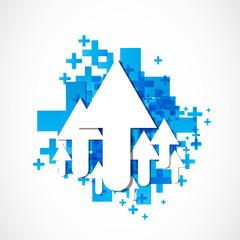abstract arrow icon concept