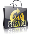 Black Line Shopping Bag: 24h SERVICE