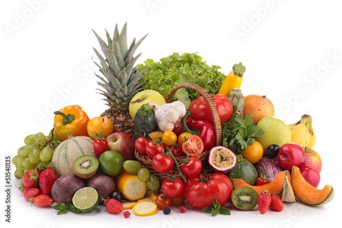 Papiers peints Cuisine fruits and vegetables