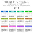 2014 French vectorial calendar