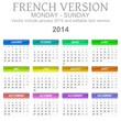 2014 French vectorial calendar