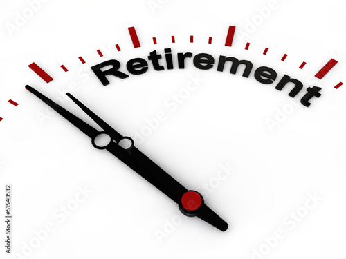 retirement on a clock