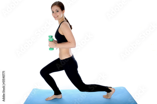 Woman Exercising with Wieghts
