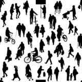 Fototapety 街の人たち シルエット