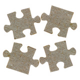 Pieces of a jigsaw puzzle isolated