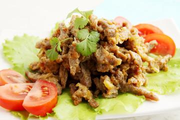 Beef Stroganoff with cilantro