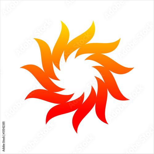 sole fuoco, rosso