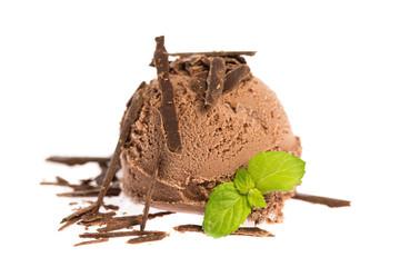 Eiskugeln: Schokolade und Minze