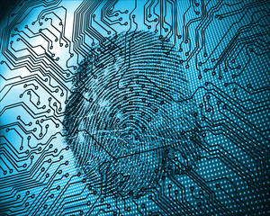 Illustration of blue fingerprint