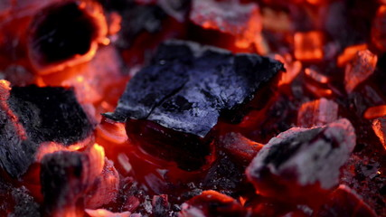 Close-up on embers
